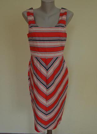 Красивое брендовое коттоновое платье oasis