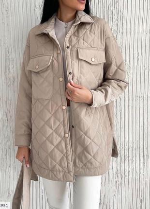 Женское стёганное пальто куртка