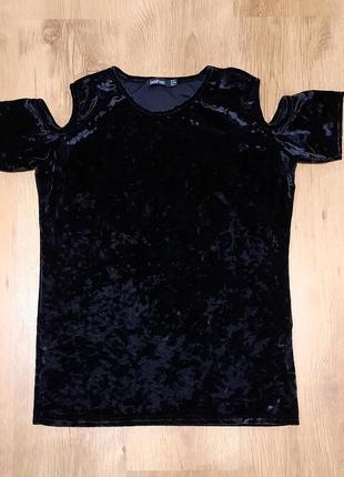 Блуза велюр мрамор boohoo размер xs-s