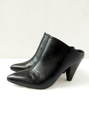 """Стильные брендовые туфли, мюли """"river island"""" на каблуке. размер uk3/eur35-36."""