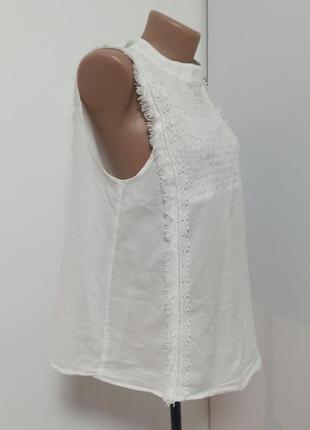 Блуза белая хб блузка zara l оверсайз біла двустроронняя