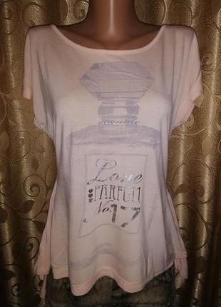 🌺🎀🌺стильная женская трикотажная футболка, блузка f&f🔥🔥🔥