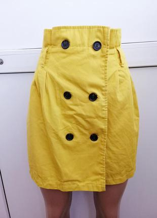 Юбка женская жёлтая короткая