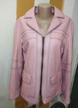 Кожаный жакет- куртка