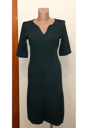 💥1+1=3 отличное изумрудное платье по фигуре миди jake*s, размер 44 - 46
