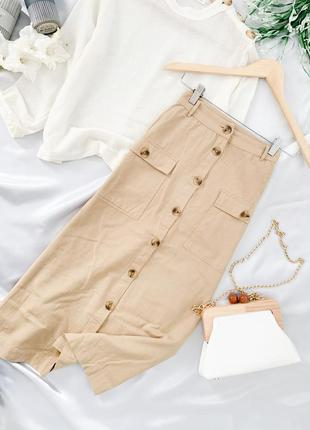 Хлопковая юбка на пуговках