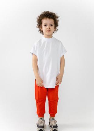 Базовая детская футболка для мальчиков german kids белый