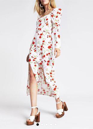 Платье в цветы river island макси в цветы в стиле zara