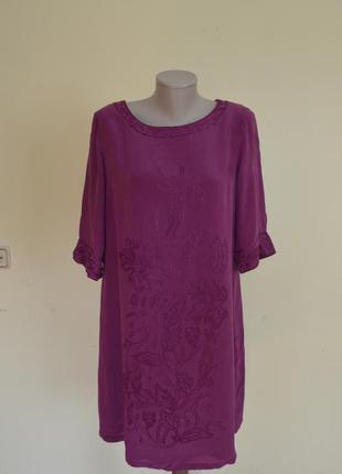 Брендовое красивое шелковое платье 100% шелк