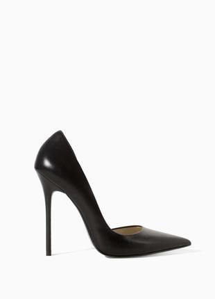 Zara, кожаные туфли лодочки, 39
