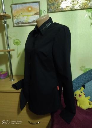 Шикарная чёрная рубашка- школа- офис- hakro- германия- сост. новой