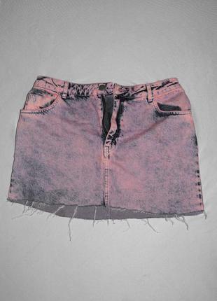 Джинсовая мини юбка asos