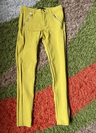 Жовті штани-лосіни