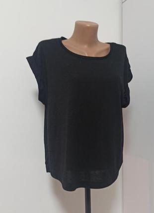 Футболка чорна базова topshop черная блуза