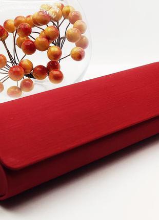 Красный стильный футляр для очков на магните / футляр для окулярів