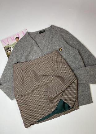 Базовая юбка мини в клетку  размер:16