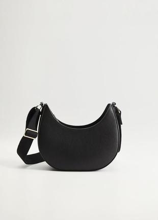 Женская черная сумка эко кожа багет манго mango