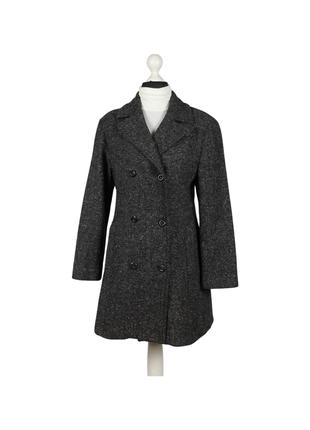 Пальто benetton в елочку шерсть