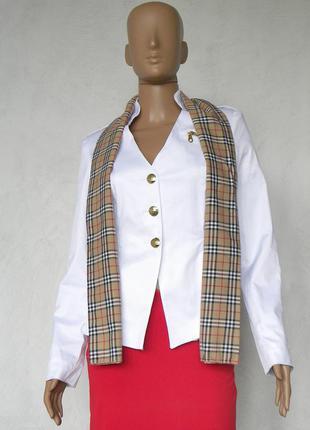 Легкий білий піджак з шарфом 42,48 розмір (36,42 євророзміри). розмір на вибір