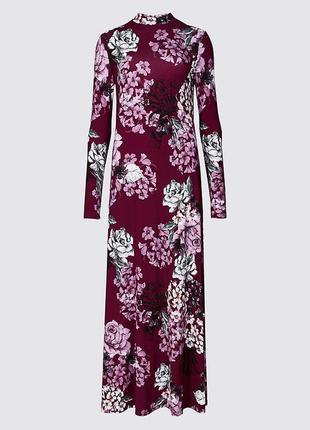 Очень красивое платье-макси чудесного винно-пурпурного цвета