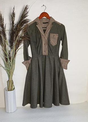 ✨неперевершена , натуральна , м'якенька, вінтажна сукня , платье винтаж , шерсть ✨