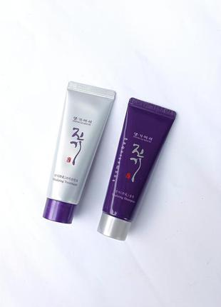 💜+🤍набір: шампунь+кондиціонер від випадіння волосся daeng gi meo ri (50 ml)