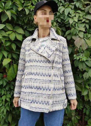 Пальто оверсайз косуха из твида от marks & spenser