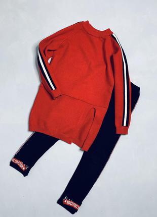 Вязаное платье свитер туника