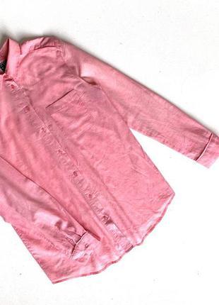 Стильная розовая рубашка