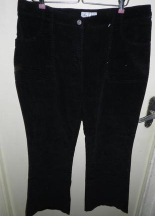 Вельветовые,чёрные,стрейч-коттон брюки,большого размера,германия