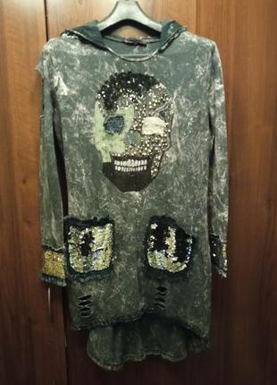 Платье с черепом