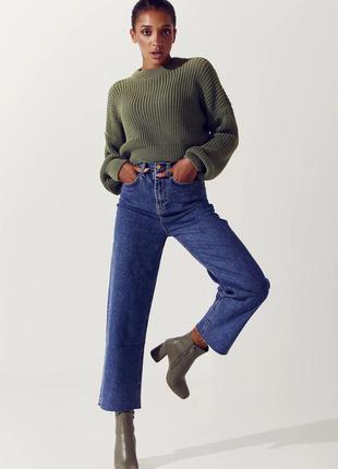 Прямые синие укорочённые джинсы 🍁