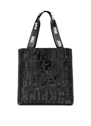 Сумка victoria's secret pink tote bag. 🍒 оригинал.