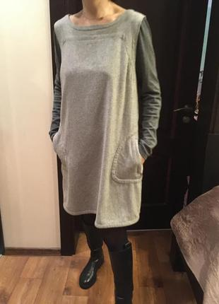 Теплое оверсайз платье mint velvet