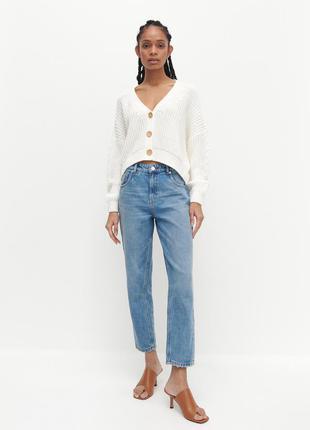 Джинси mom reserved голубі блакитні джинси, джинси мом, женские джинсы мом.