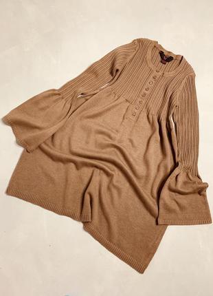 Вязаное платье цвета мокко
