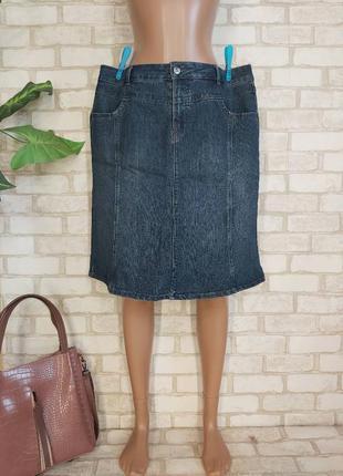 Фирменная yessica джинсовая юбка миди в темно синем цвете, размер 3-4 хл
