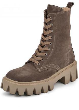 Ботинки натуральная замша люкс
