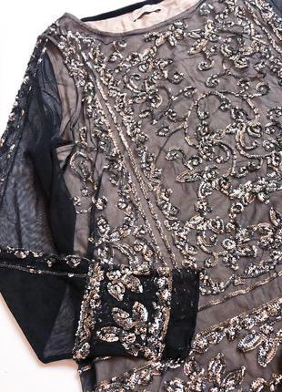 Премиум коллекция шикарная блуза, с пайетками