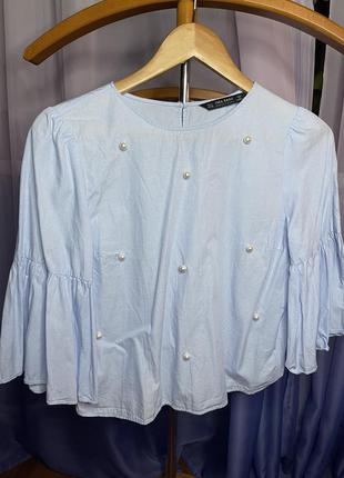 Голуба блуза zara