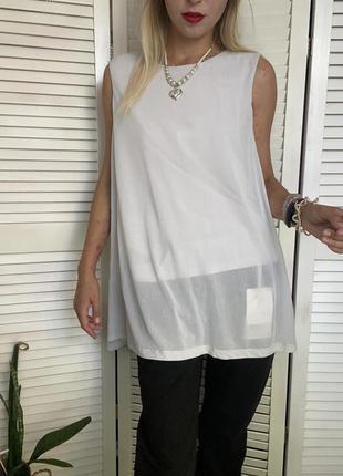 Струящаяся майка блуза серого цвета cos