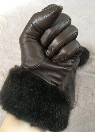 Кожаные перчатки marks & spencer