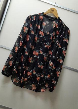Блуза рубашка в цветочный принт 🌹