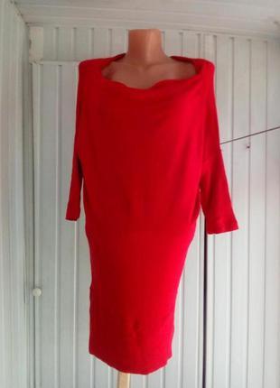 Шерстяное трикотажное платье  туниуа летучая мышь