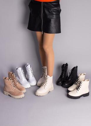 Женские ботинки на тракторной подошве 6700