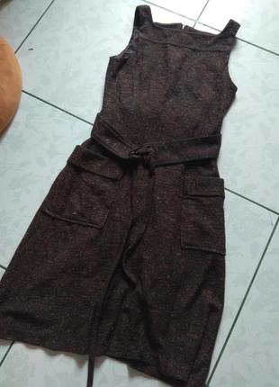 Сарафан базовый платье от mango с шелком