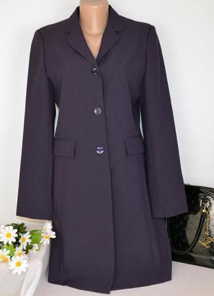 Брендовый фиолетовый удлиненный пиджак жакет с карманами modern classics этикетка