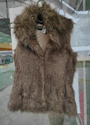 Жилет жилетка безрукавка мех меховая