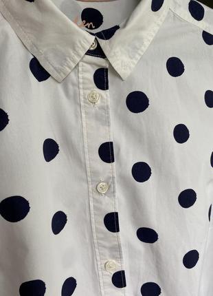 Хлопковая рубашка в горох boden