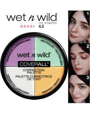 Палетка корректоров wet n wild coverall correcting palette